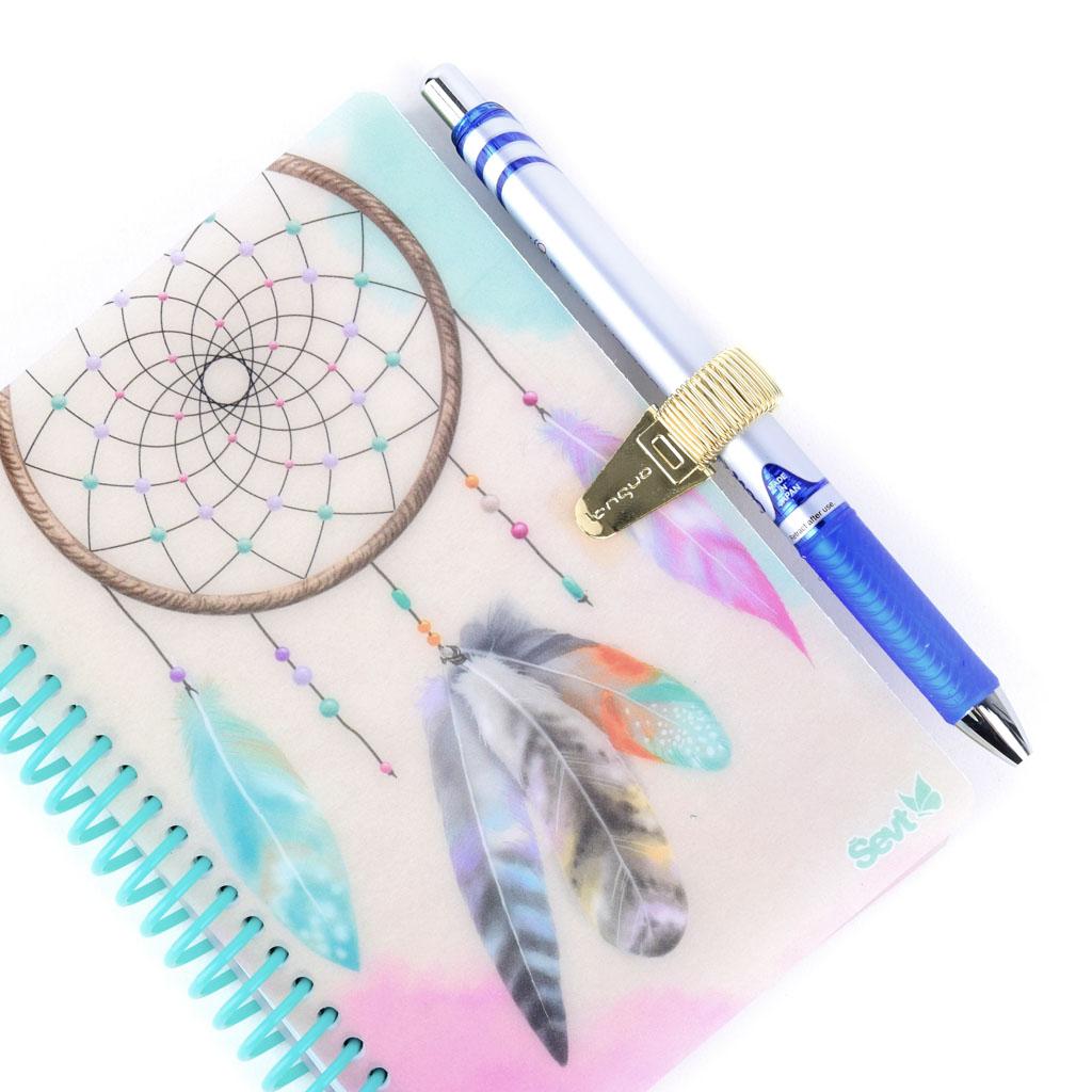Klip s pútkom na pero, metalické, mix farieb