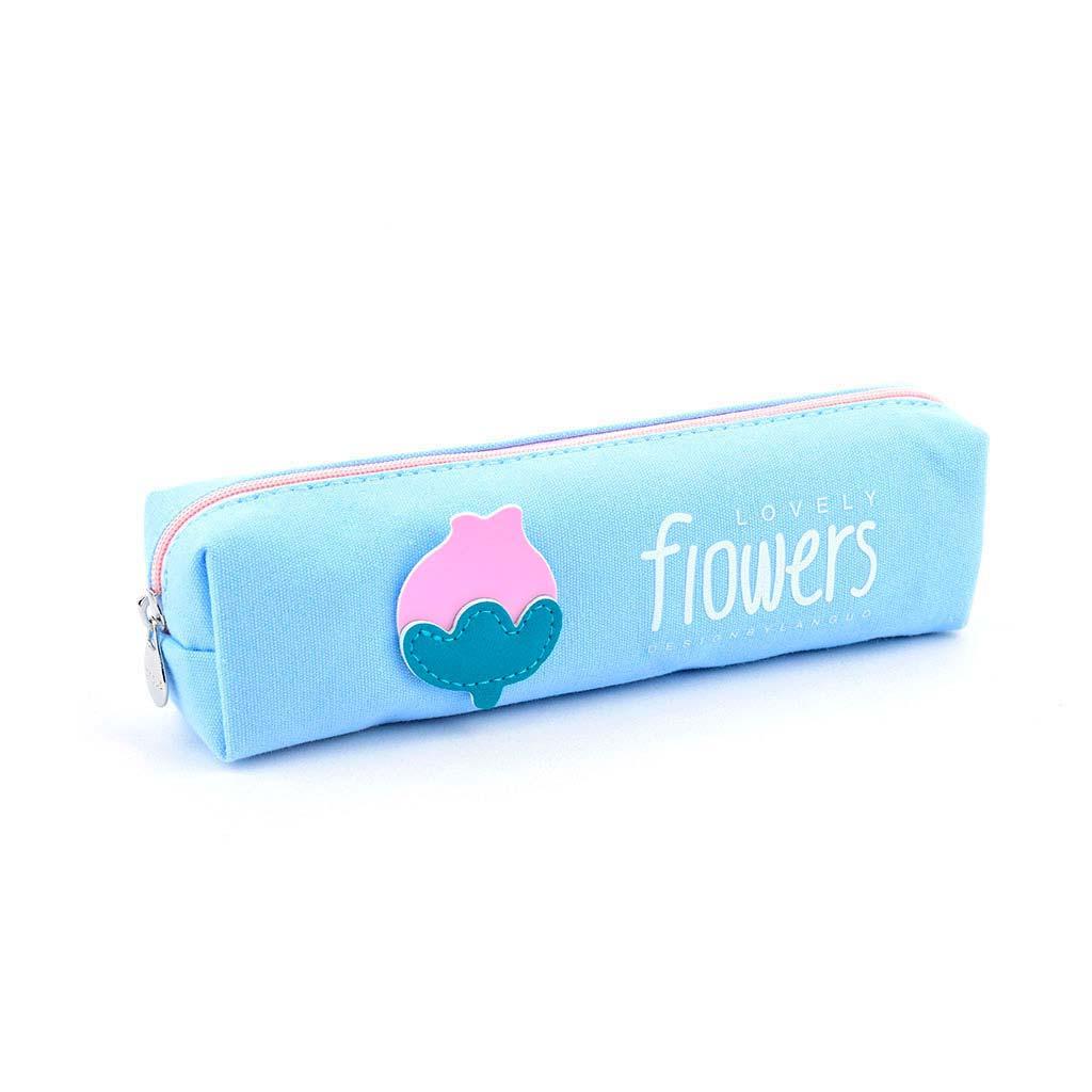 """Peračník 1 zip. prázd. - etue """"Flowers"""", veľký, mix farieb"""