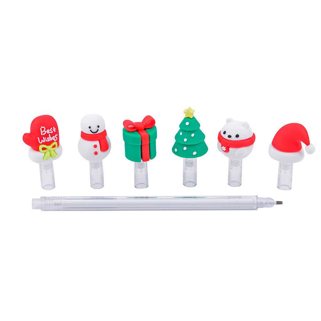 "Pero gelové, 0,5 mm, čierna náplň, ""Merry Christmas"""