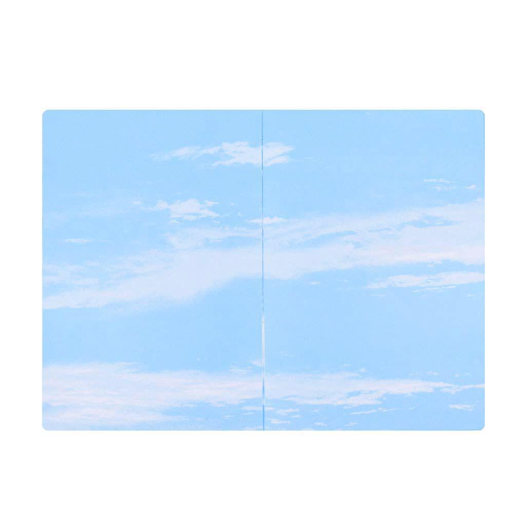 Poznámkový blok s vnútornou potlačou, oblaky, 14x20cm, 88 l.