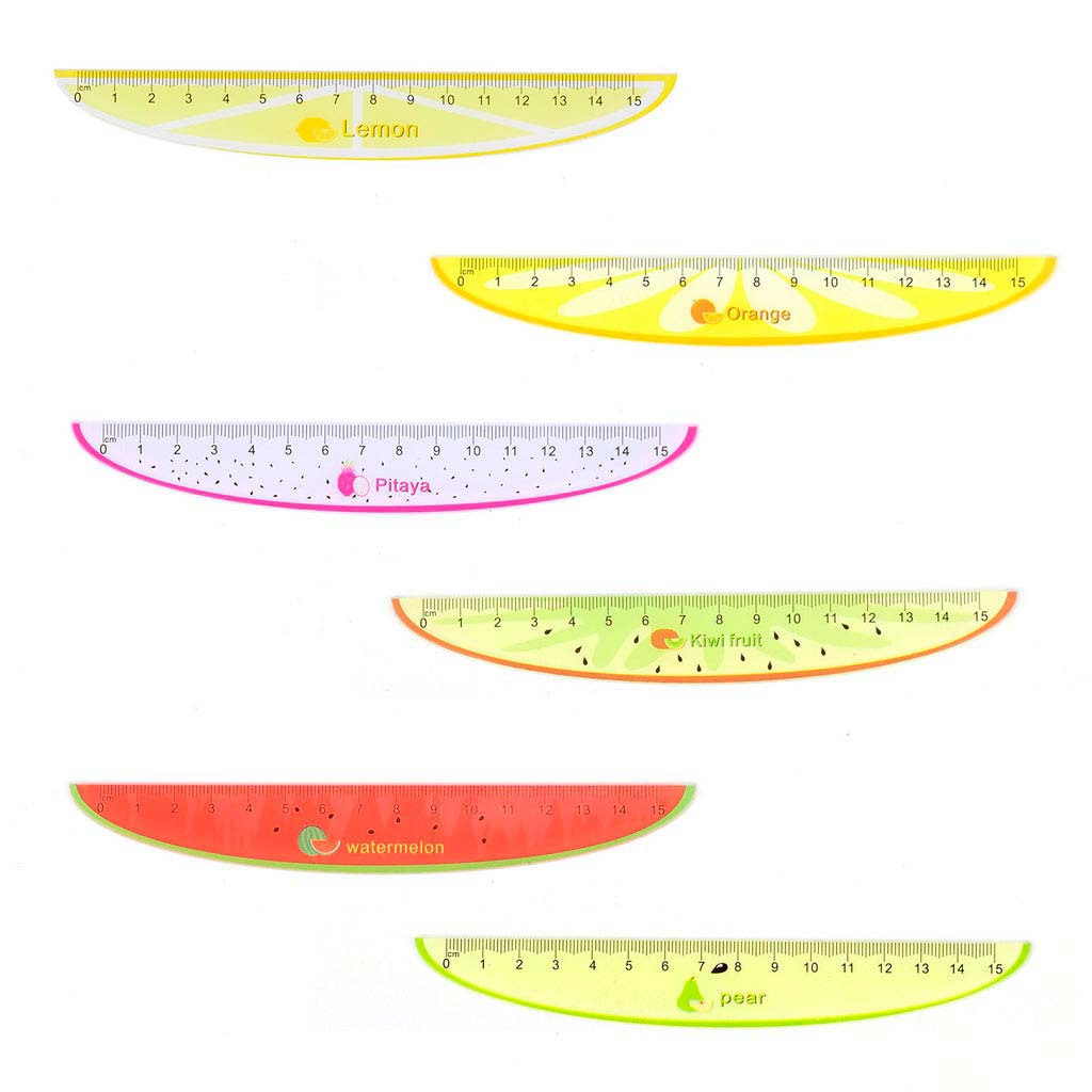 Pravítko 15 cm, ovocie, mix motívov