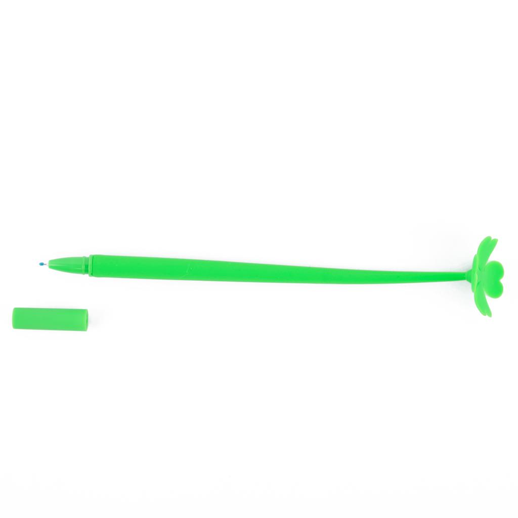 """Pero gelové 0,5 mm, modrá náplň, """"štvorlístok"""""""
