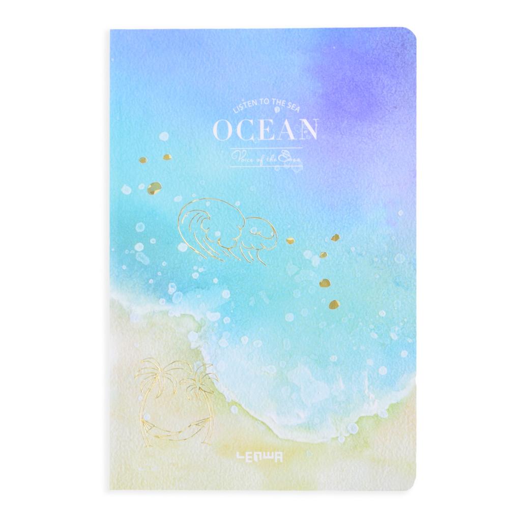 """Poznámkový blok A5, linajkový, 44 l., """"ocean"""", mix motívov"""