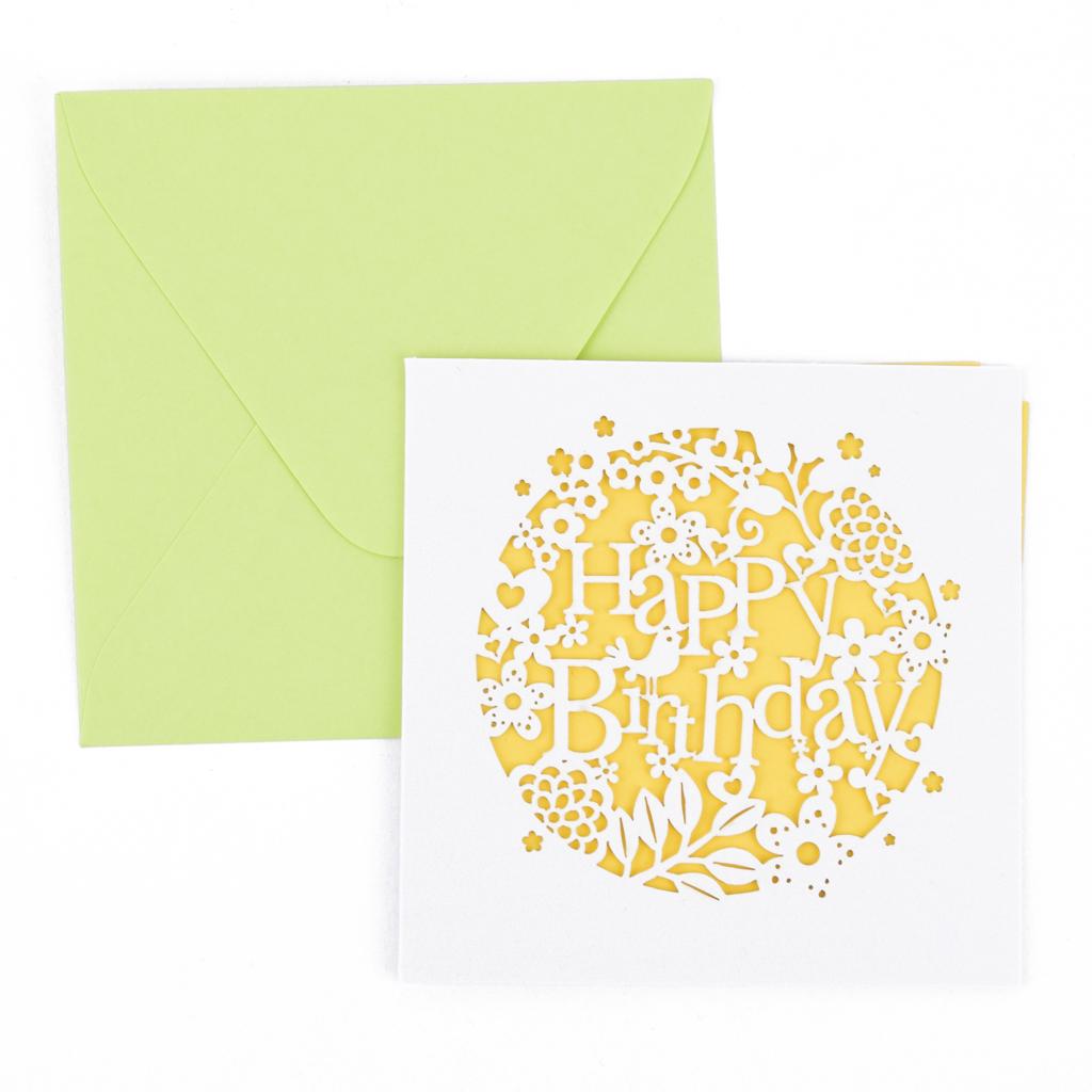 Blahoželanie mini s obálkou, 9,5x9,5 cm, mix motívov
