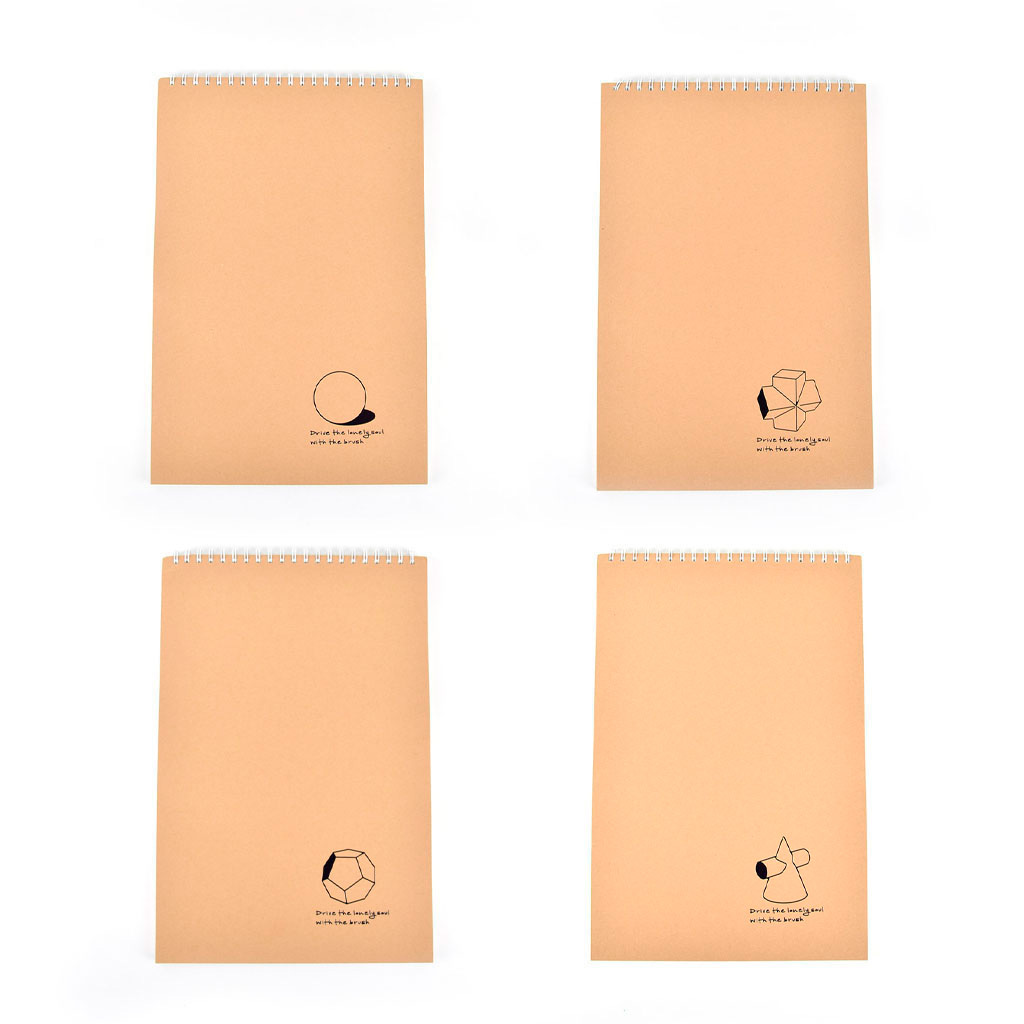 Skicár so špirálou po kratšej strane, 28,4x42,5 cm, 50 l., natur, mix motívov