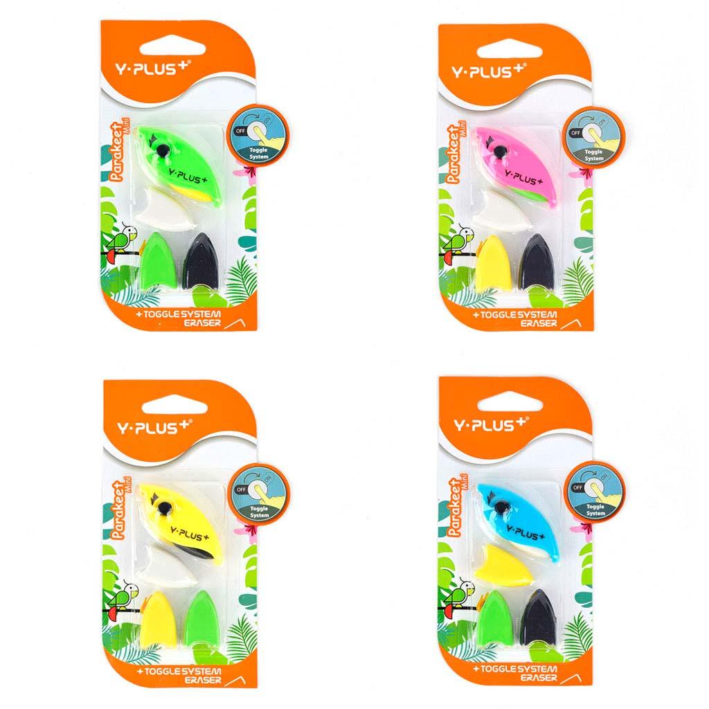 "Guma ""Parakeet mini"", s 3 náplňami, mix farieb"