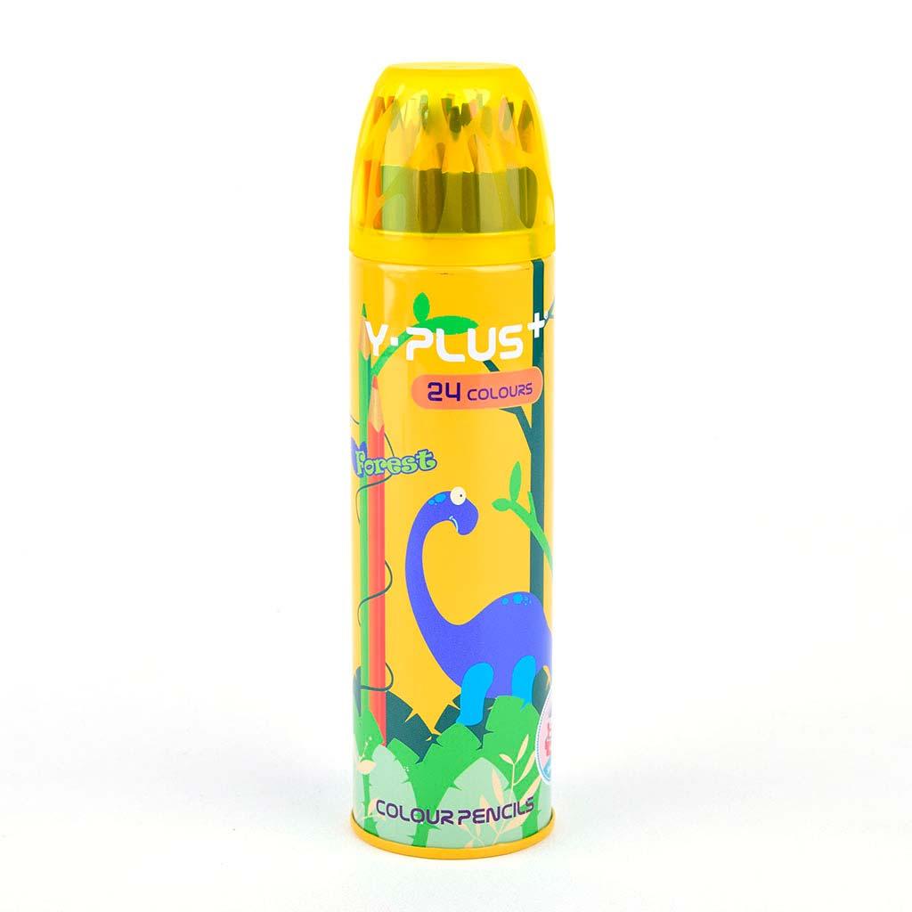 Farbičky trojhranné v kovovej tube, 24 ks