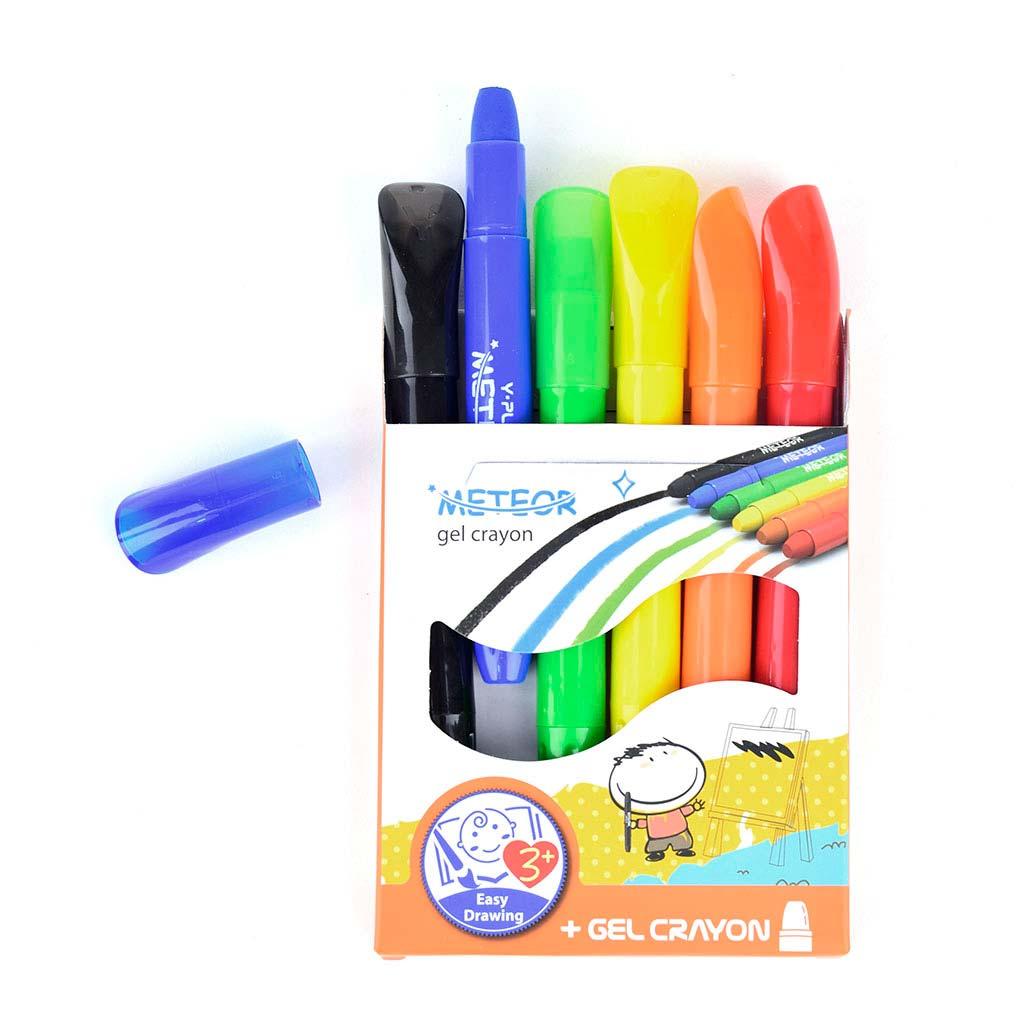 """Farbičky voskové gelové """"Meteor"""", 6ks"""