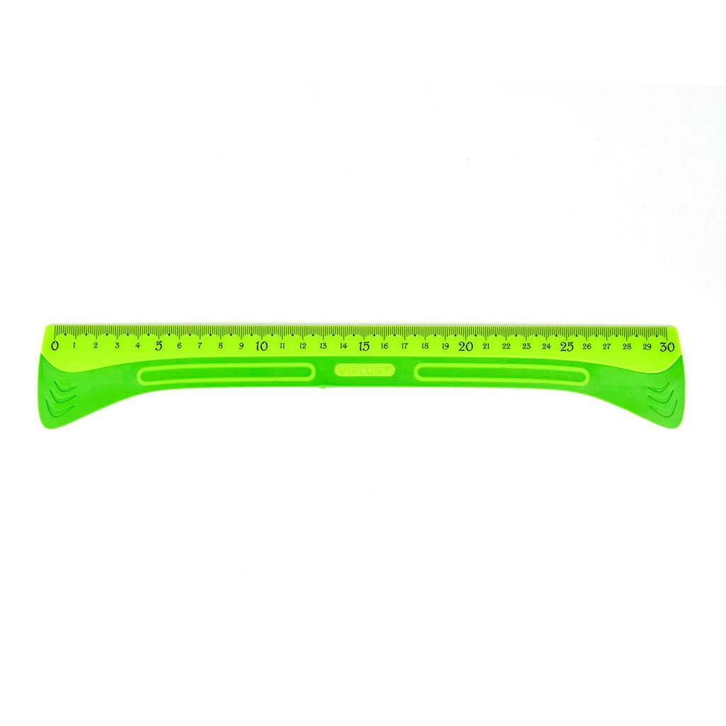 Pravítko s protišmykovou podložkou, 30 cm, mix farieb