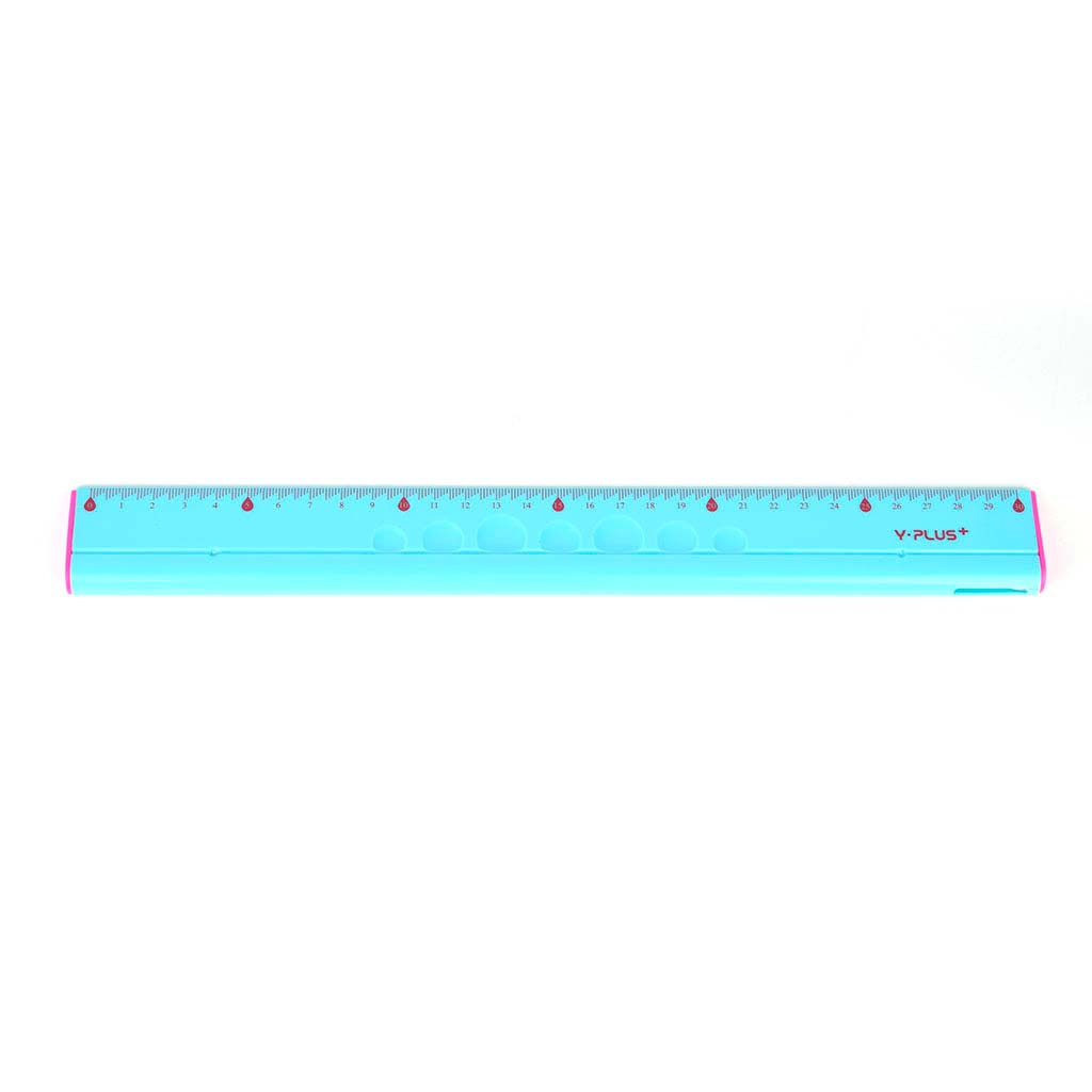 Pravítko ergonomické 4 v 1, 30 cm, mix farieb