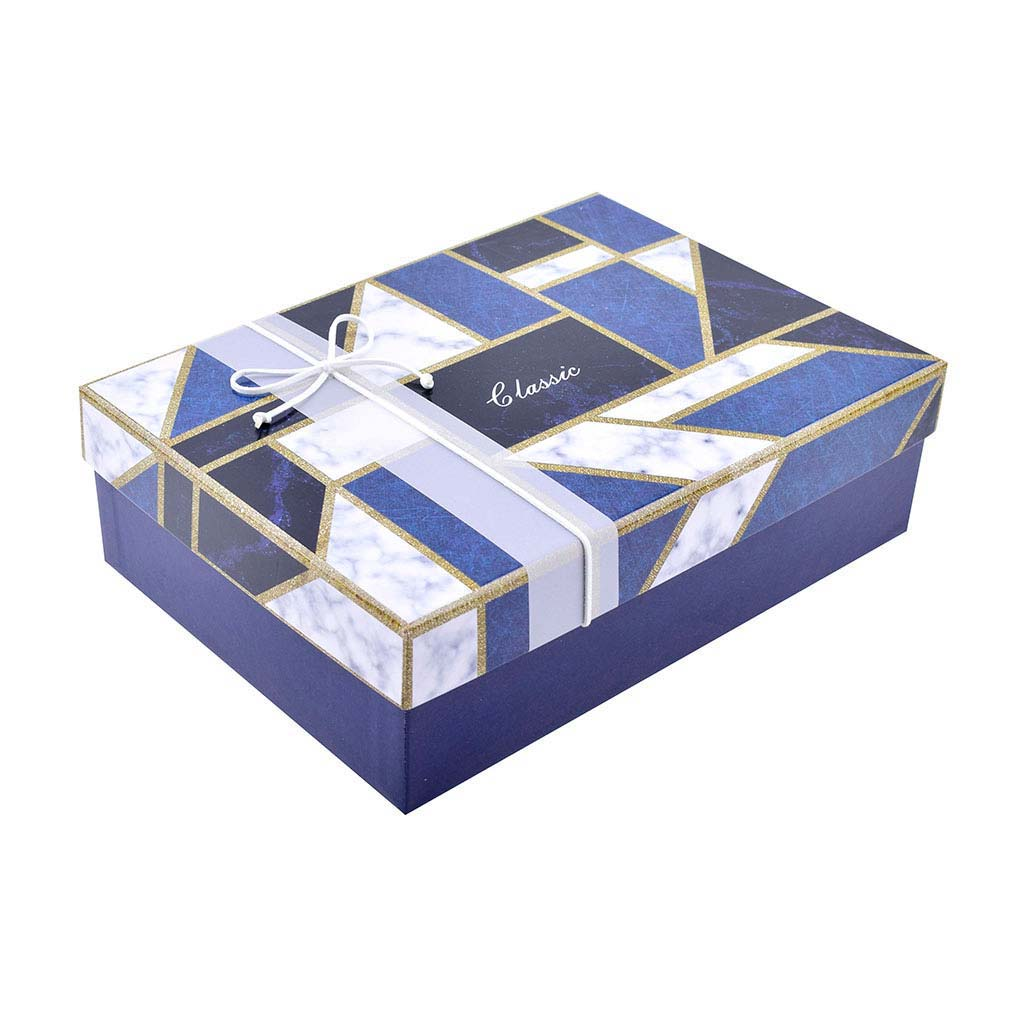 Papierová krabica 24,5x17x6,5 cm, geometrické tvary