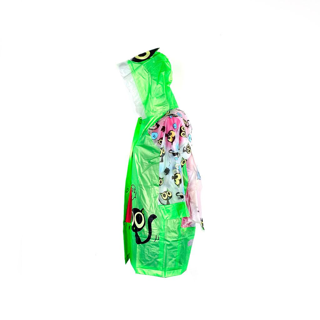 Pršiplášť detský s otvorom na školskú tašku, veľkosť L, mix farieb