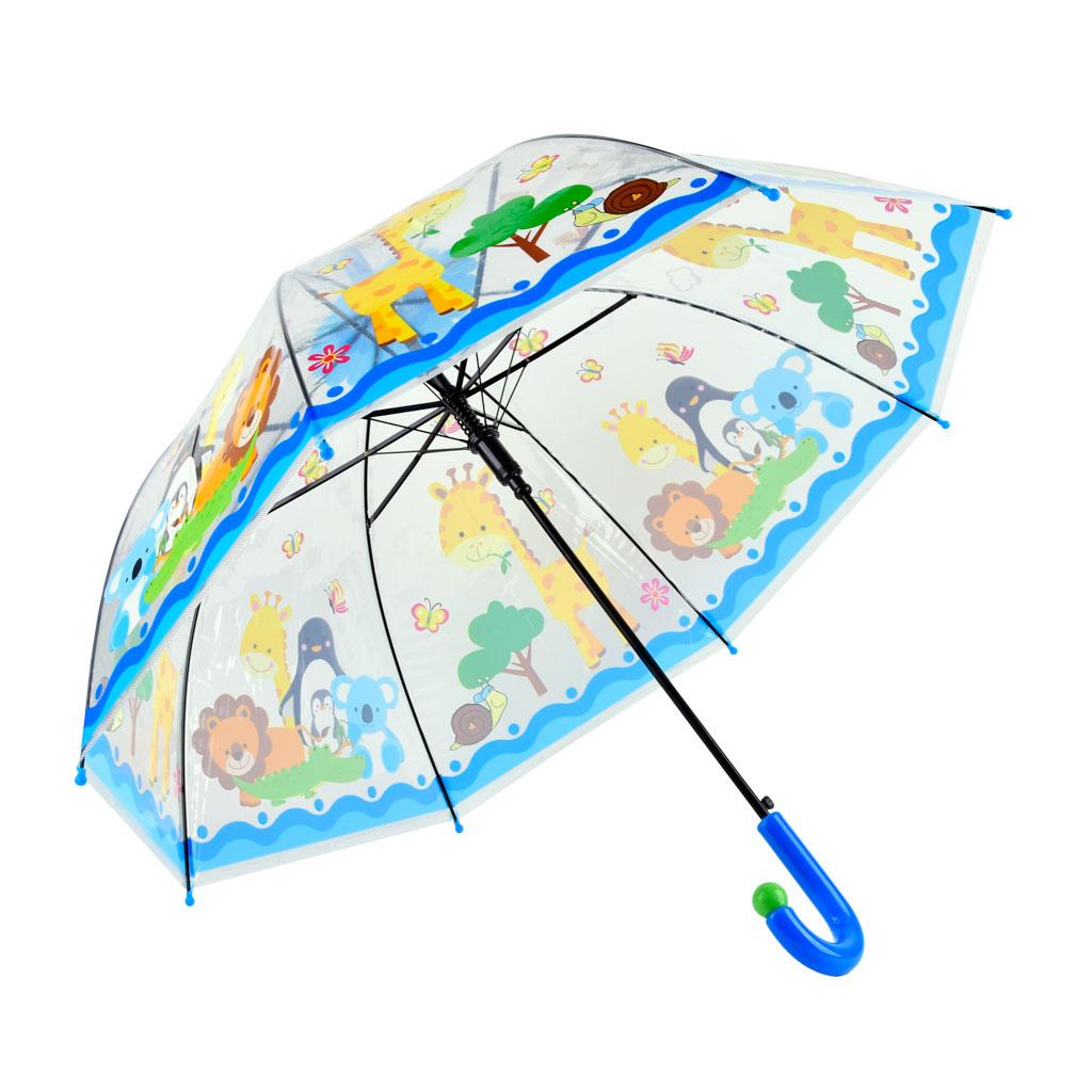 Dáždnik detský, priehľadný, mix motívov