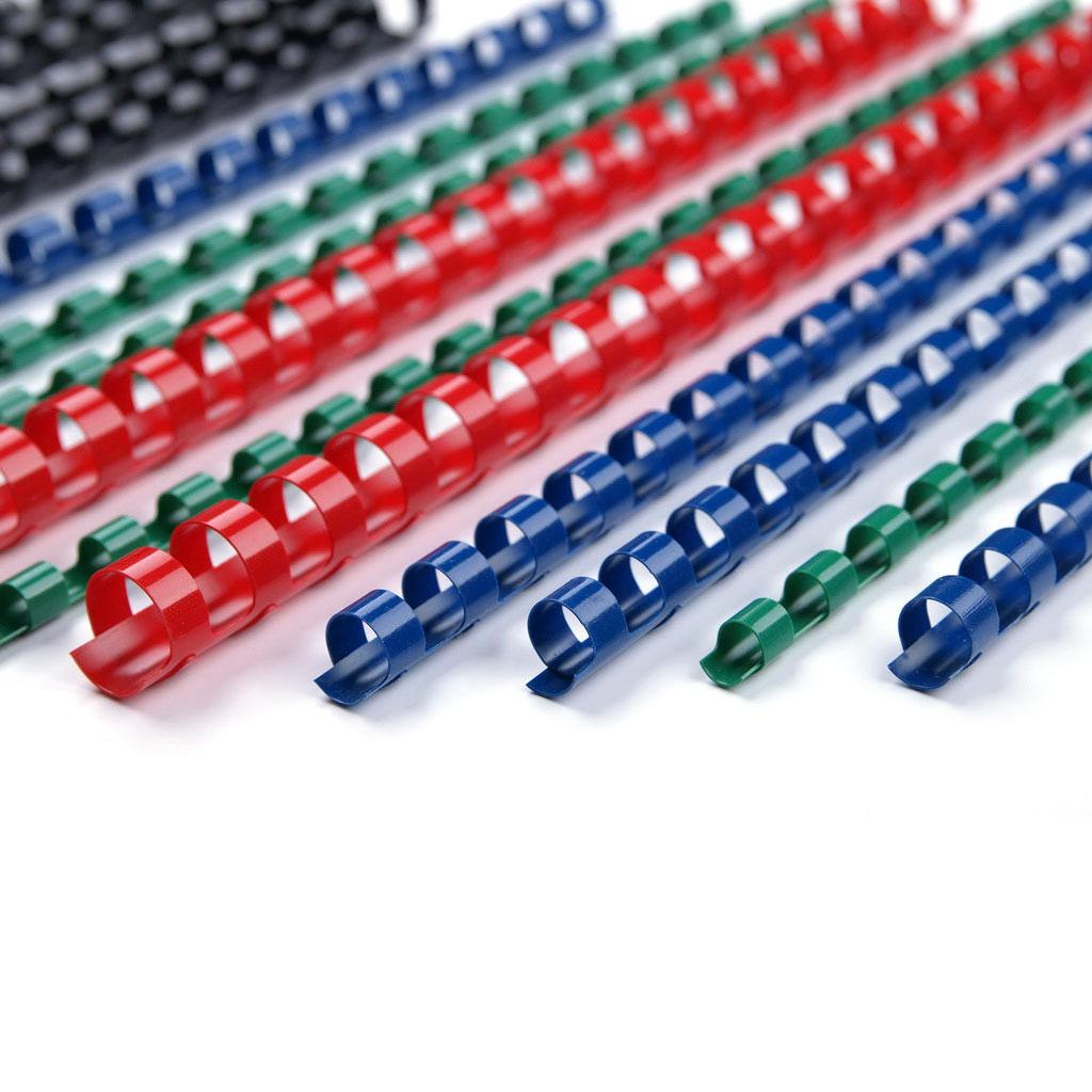 Plastové hrebene 51 mm, max 510l - modrá / 10 ks v balení