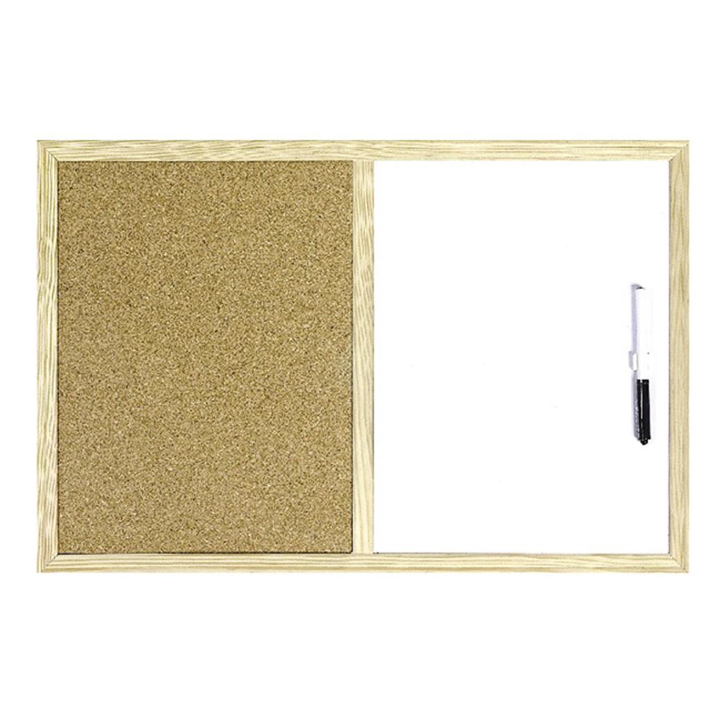 Nástenka kombi - korok+nemagnetická WF 40x60 cm