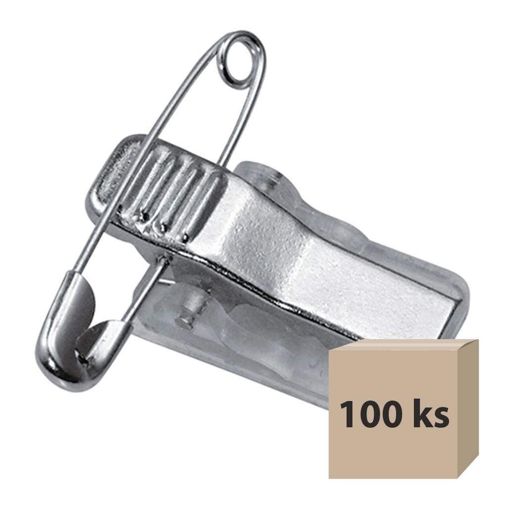 Klip na visačku samolepiaci CT 218 kovový, 100 ks