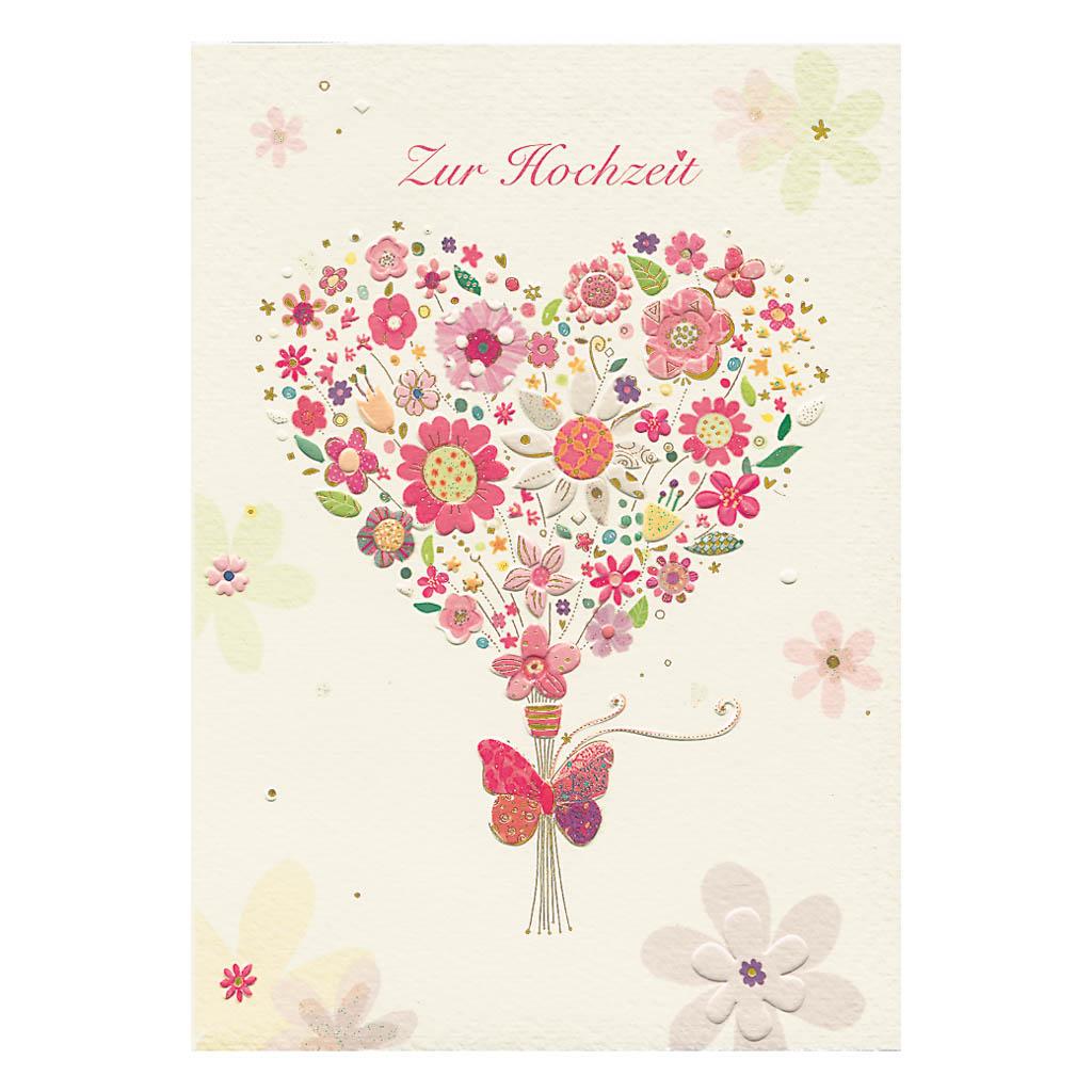 Blahoželanie svadobné, Kytica v tvare srdca