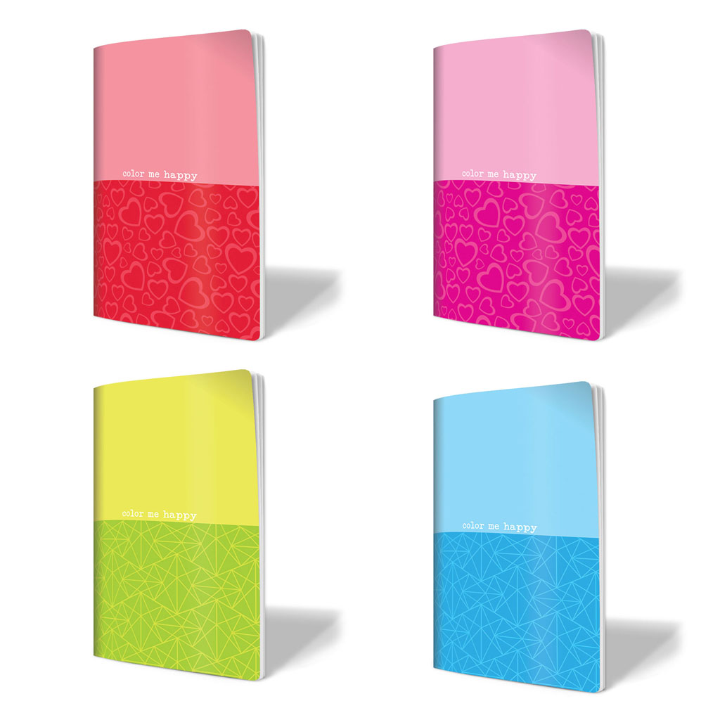 """Zošit A4, linajkový, 52 l. - """"Neon"""", mix farieb"""