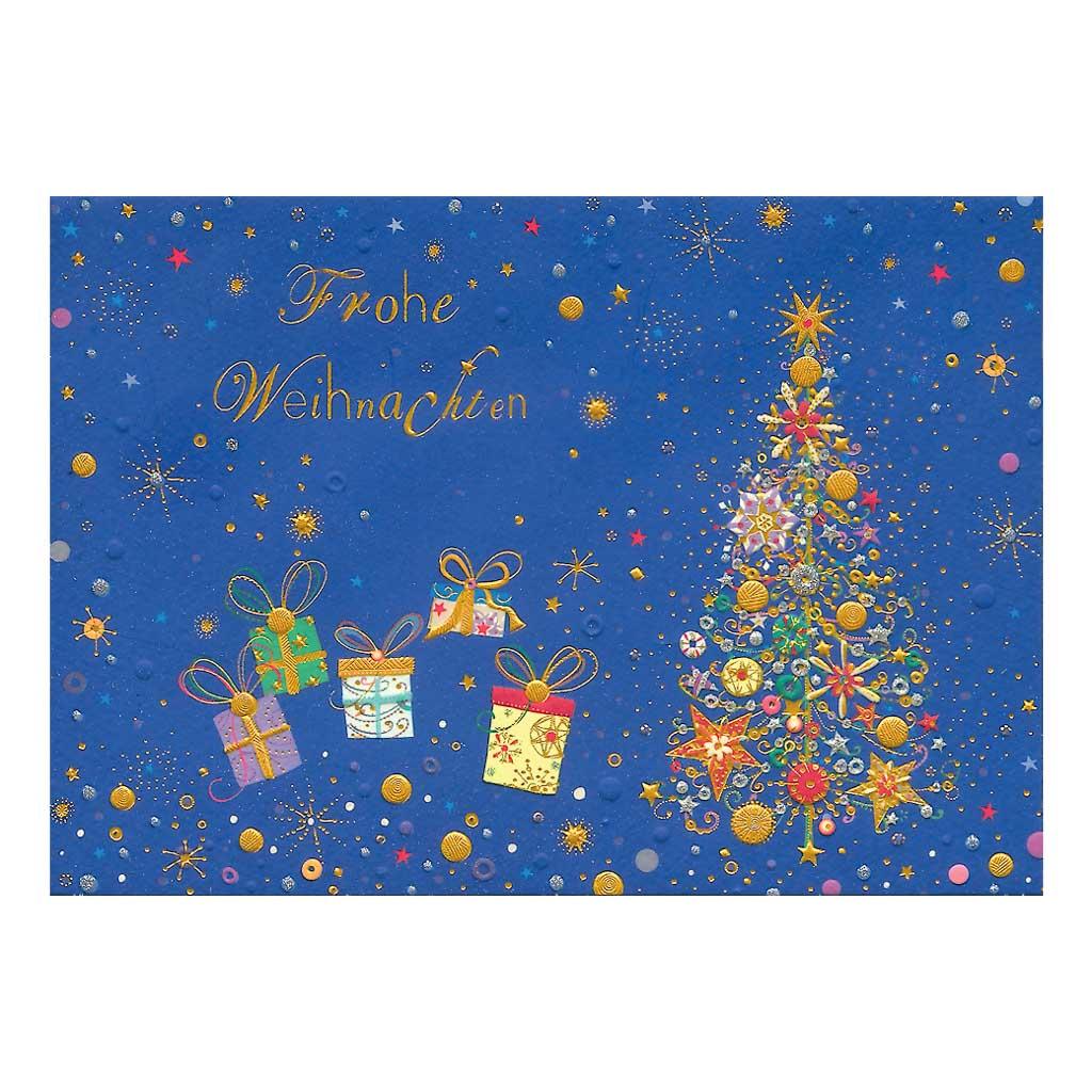 Blahoželanie vianočné, Jedlička s darčekmi
