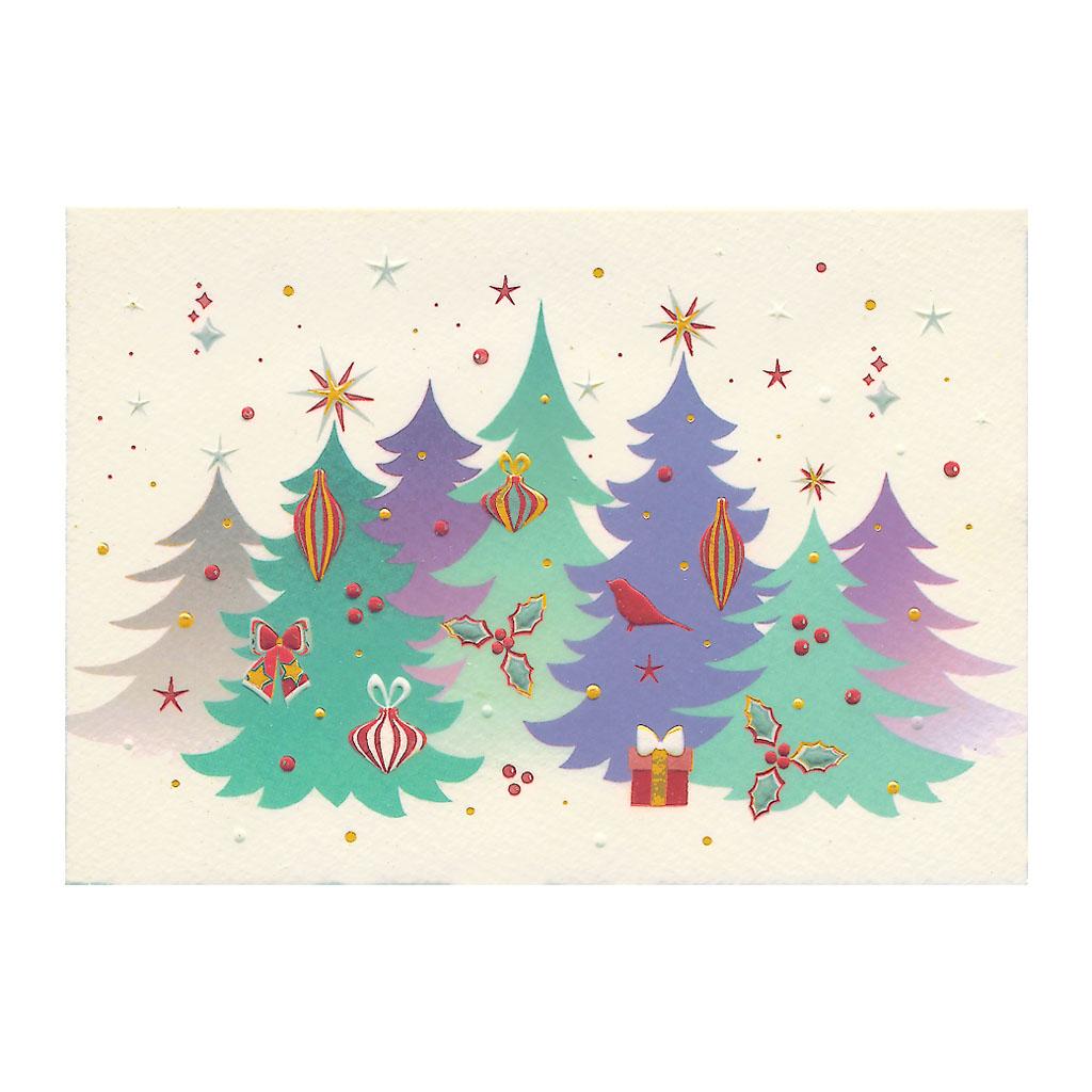 Blahoželanie vianočné, Ozdobené jedličky