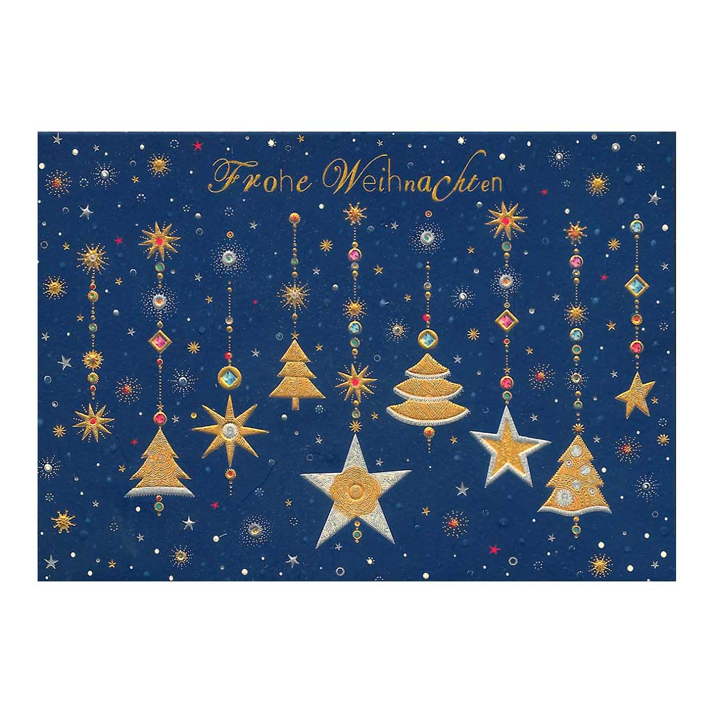 Blahoželanie vianočné, Stromčeky s hviezdičkami