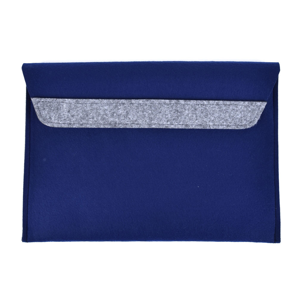 Obal plstený s klopou, na suchý zips, 33x24cm, modrá
