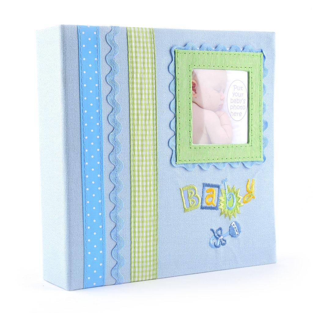 "Fotoalbum ""BABY"", textil, 180 fotiek 10x15 cm, mix farieb"
