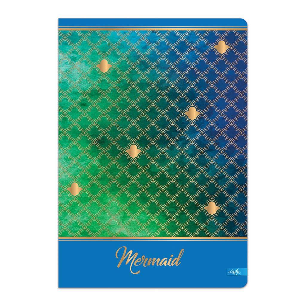 """Zošit A4, linajkový, 52 l. - """"Mermaid"""", mix motívov"""