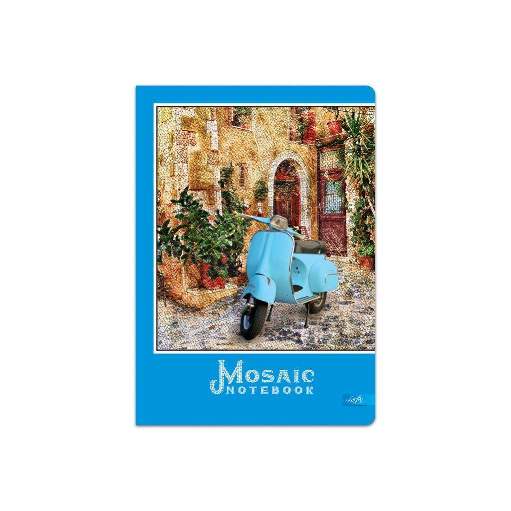 """Záznamová kniha A5 linajková, 100 l. """"Mosaic"""" mix motívov"""