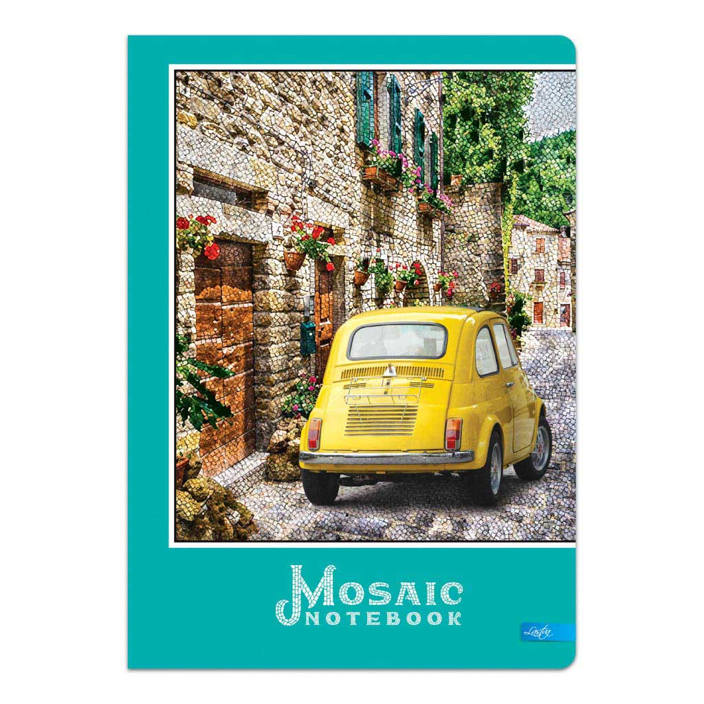 """Záznamová kniha A4 čistá, 100 l. """"Mosaic"""" mix motívov"""