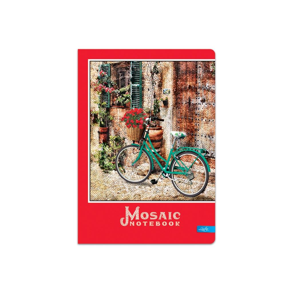 """Záznamová kniha A5 čistá, 100 l. """"Mosaic"""" mix motívov"""