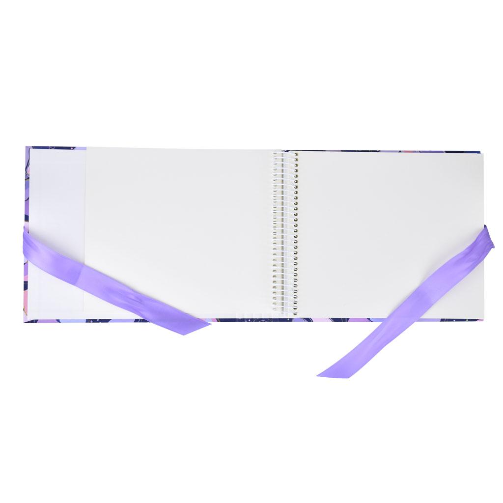 "Fotoalbum ""Opium Blue"", so skrytou špirálou, 25l., 24,5x19,5 cm"
