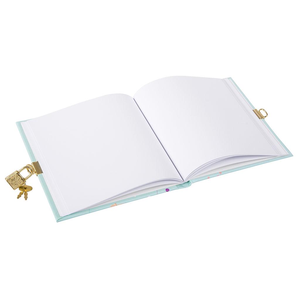 """Zápisník so zámkom """"Primavera Mint"""", 96 str., 16,5x16,5 cm"""
