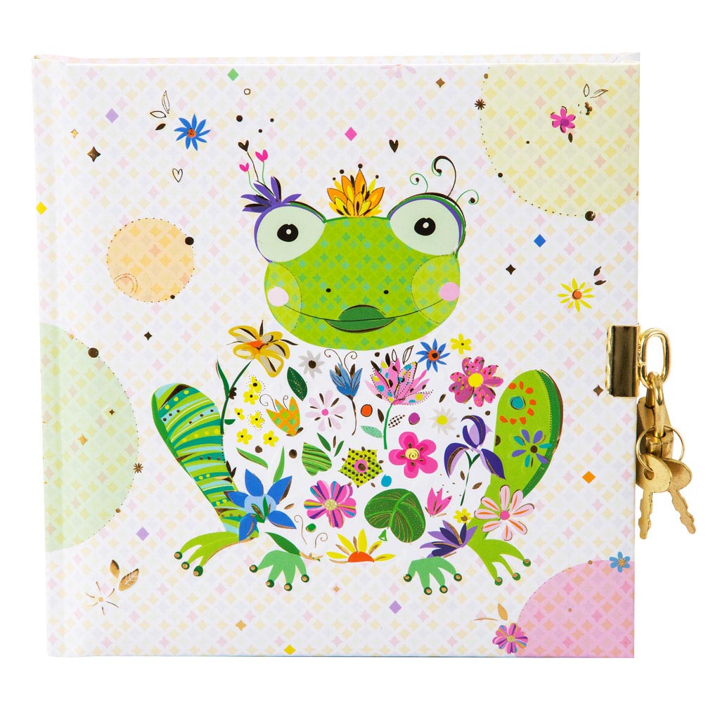 "Zápisník so zámkom ""Happy Frog"", 96 str., 16,5x16,5 cm"