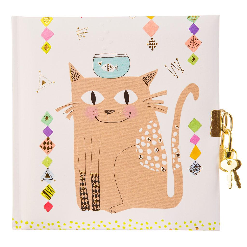 """Zápisník so zámkom """"Cat"""", 96 str., 16,5x16,5 cm"""