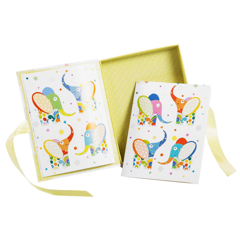 """Darčekový box s kartičkou """"Elephant"""", 11x14x2,5 cm"""