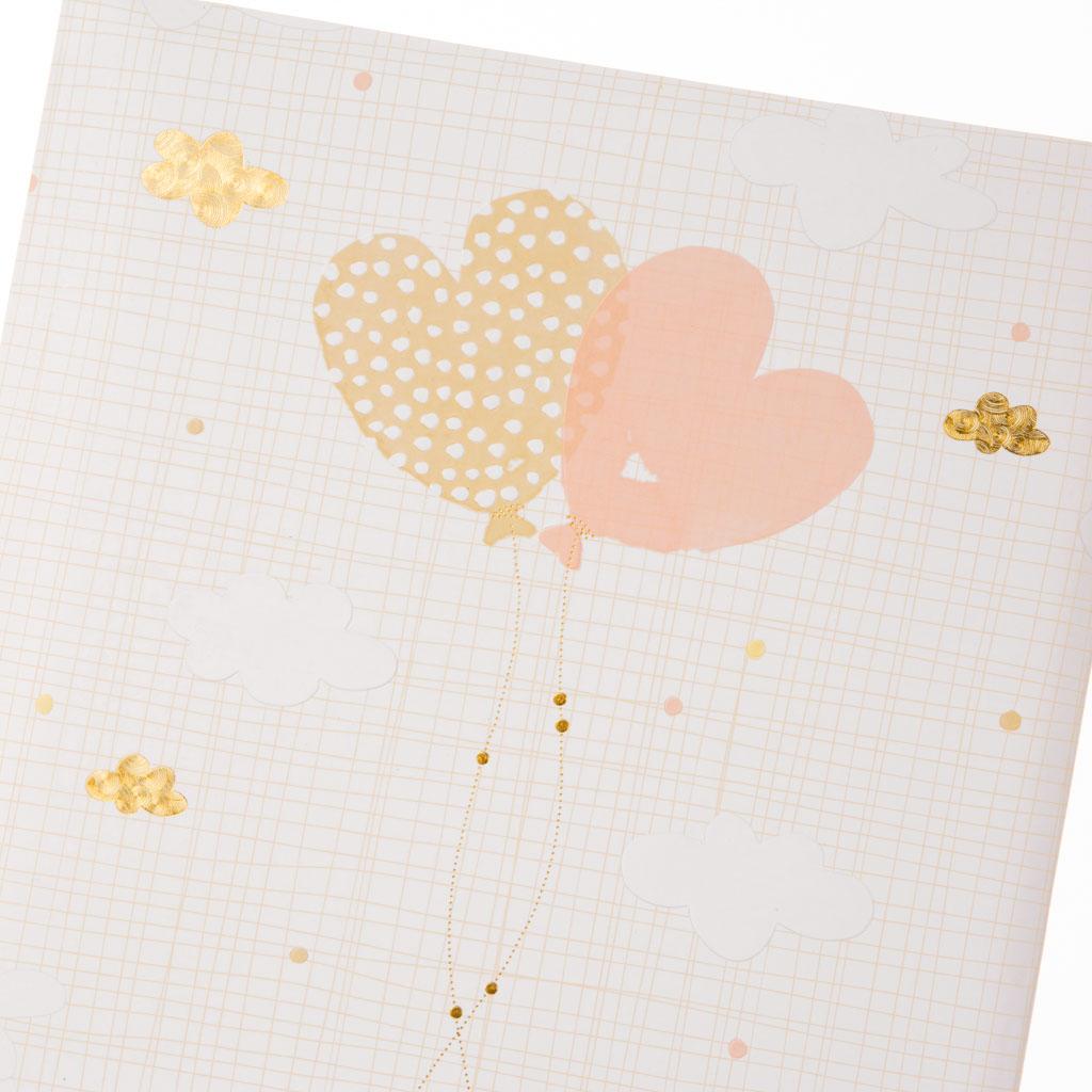 """Kniha hostí """"Ballooning Hearts"""", 88l., 23x25 cm"""