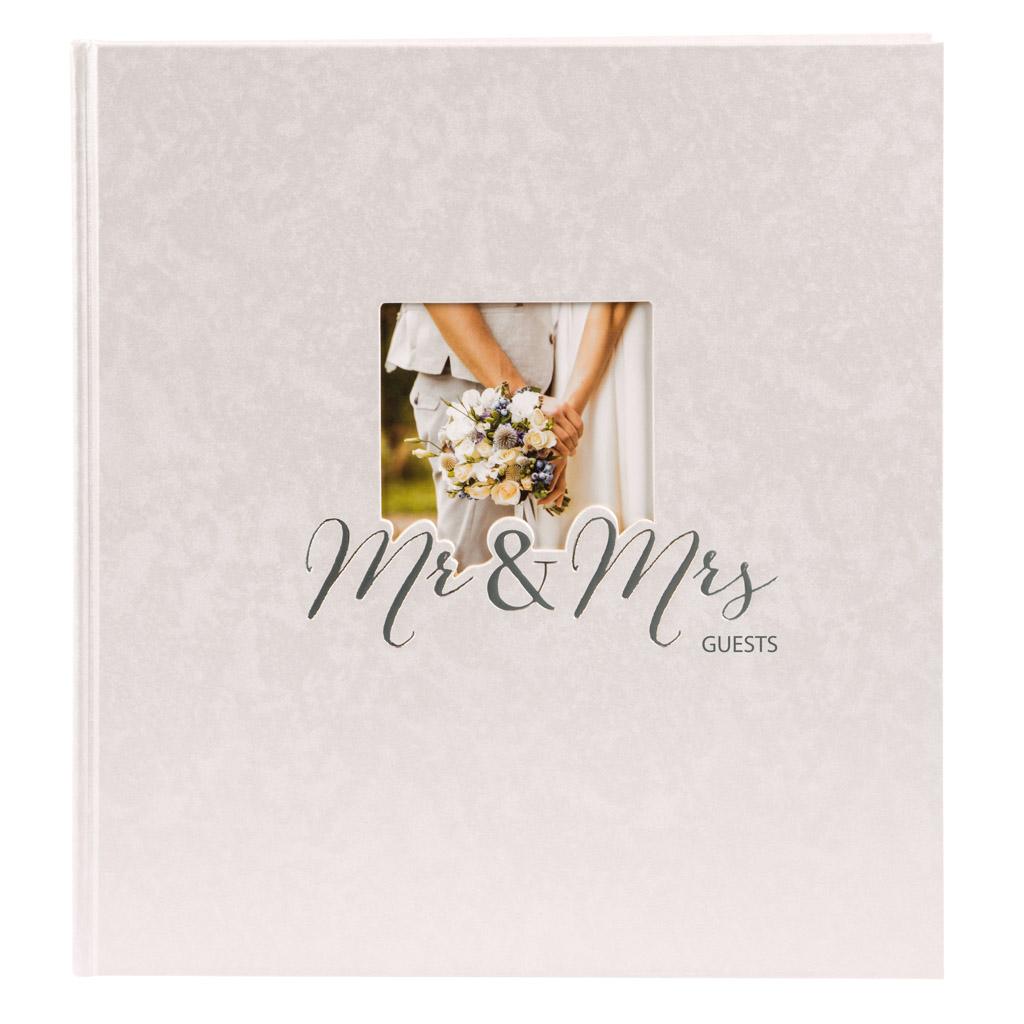 """Kniha hostí """"Mr. & Mrs."""", 88l., 23x25 cm"""