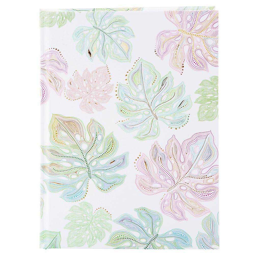 "Blok A5 ""Flora Leaves"", 100l., 15x22 cm, čistý"
