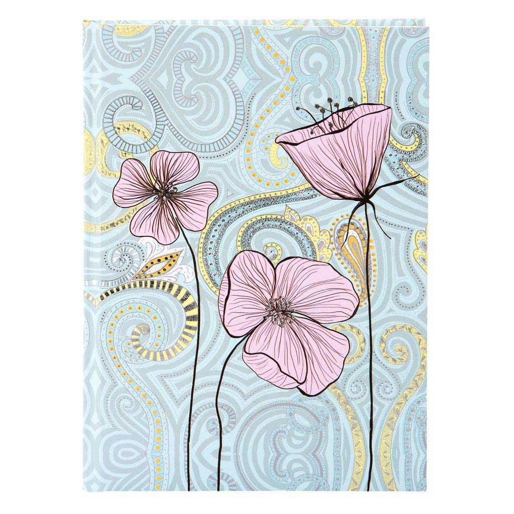 "Blok A5 ""Flora Flower"" 100l., 15x22 cm, čistý"