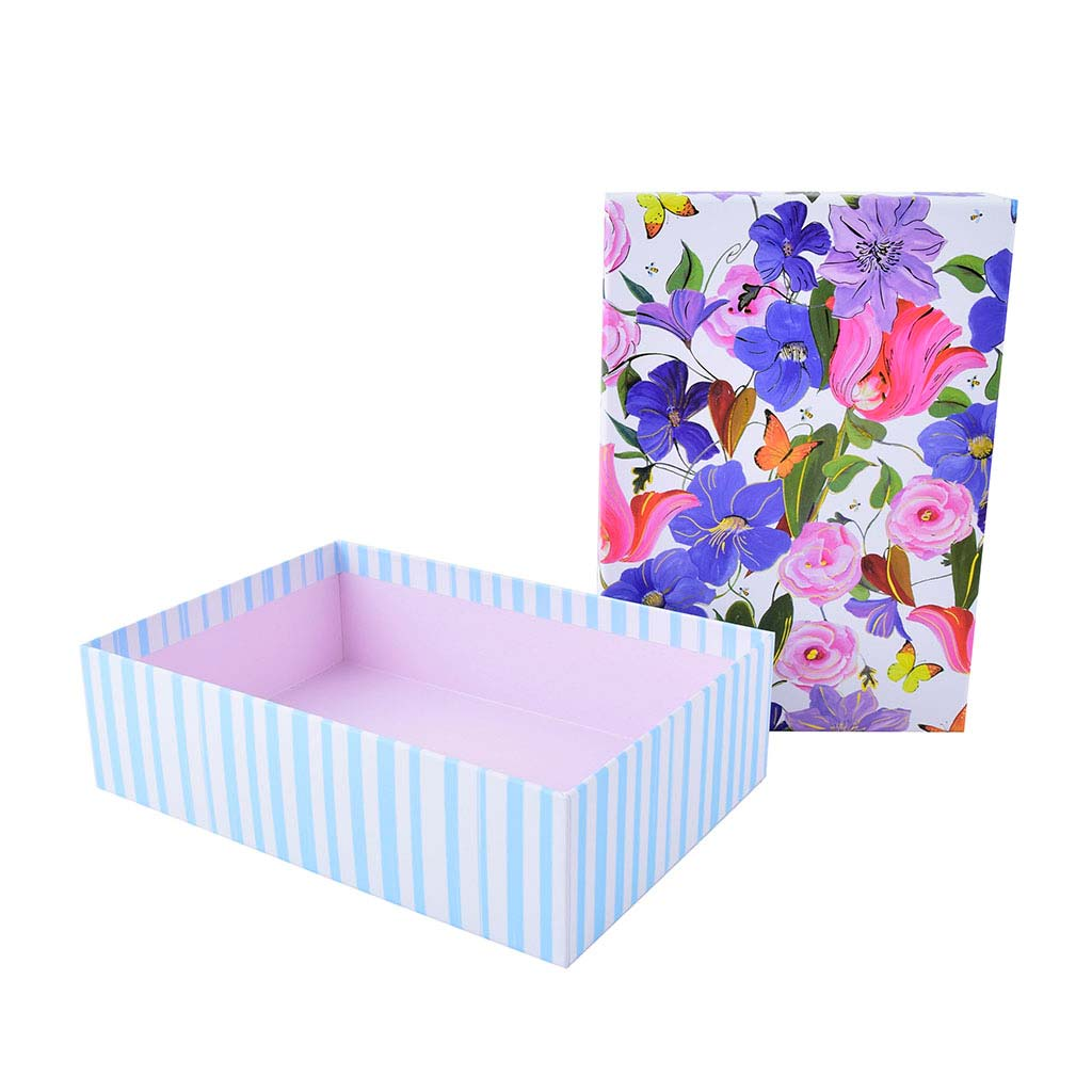 """Papierová krabica 18,5x26x7 cm, """"Garden of Colors"""""""