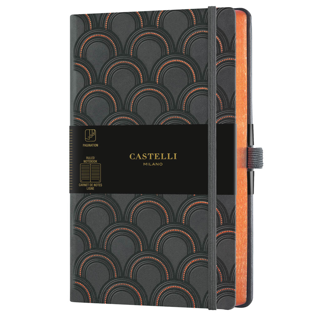 "Castelli Blok ""COPPER&GOLD"", MEDIUM, linajkový, 120 l., Art Deco Copper"