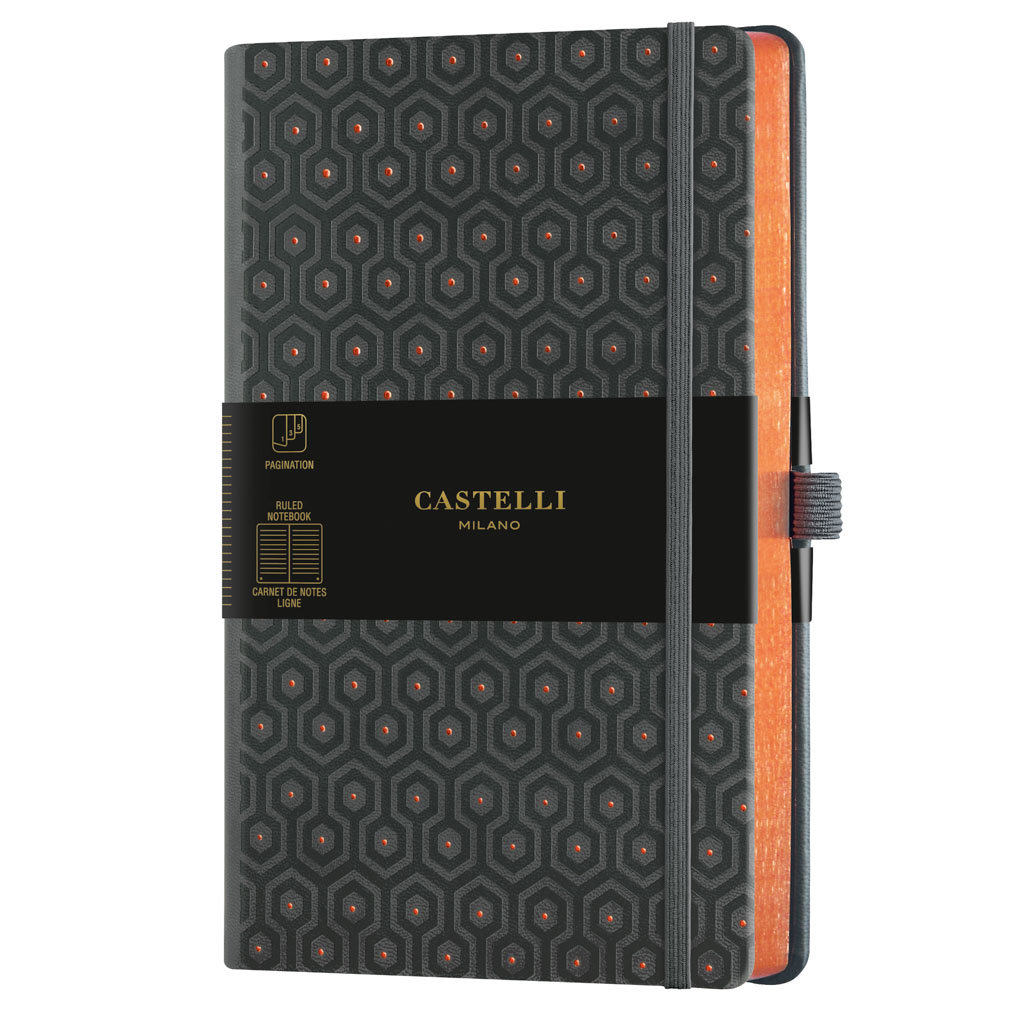 "Castelli Blok ""COPPER&GOLD"", MEDIUM, linajkový, 120 l., Honeycomb Copper"