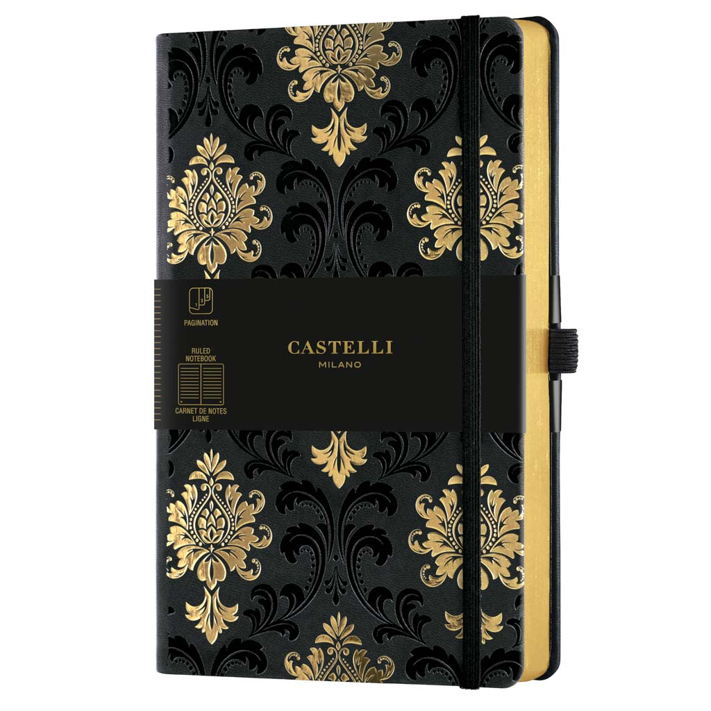 "Castelli Blok ""COPPER&GOLD"", MEDIUM, linajkový, 120 l., Baroque Gold"