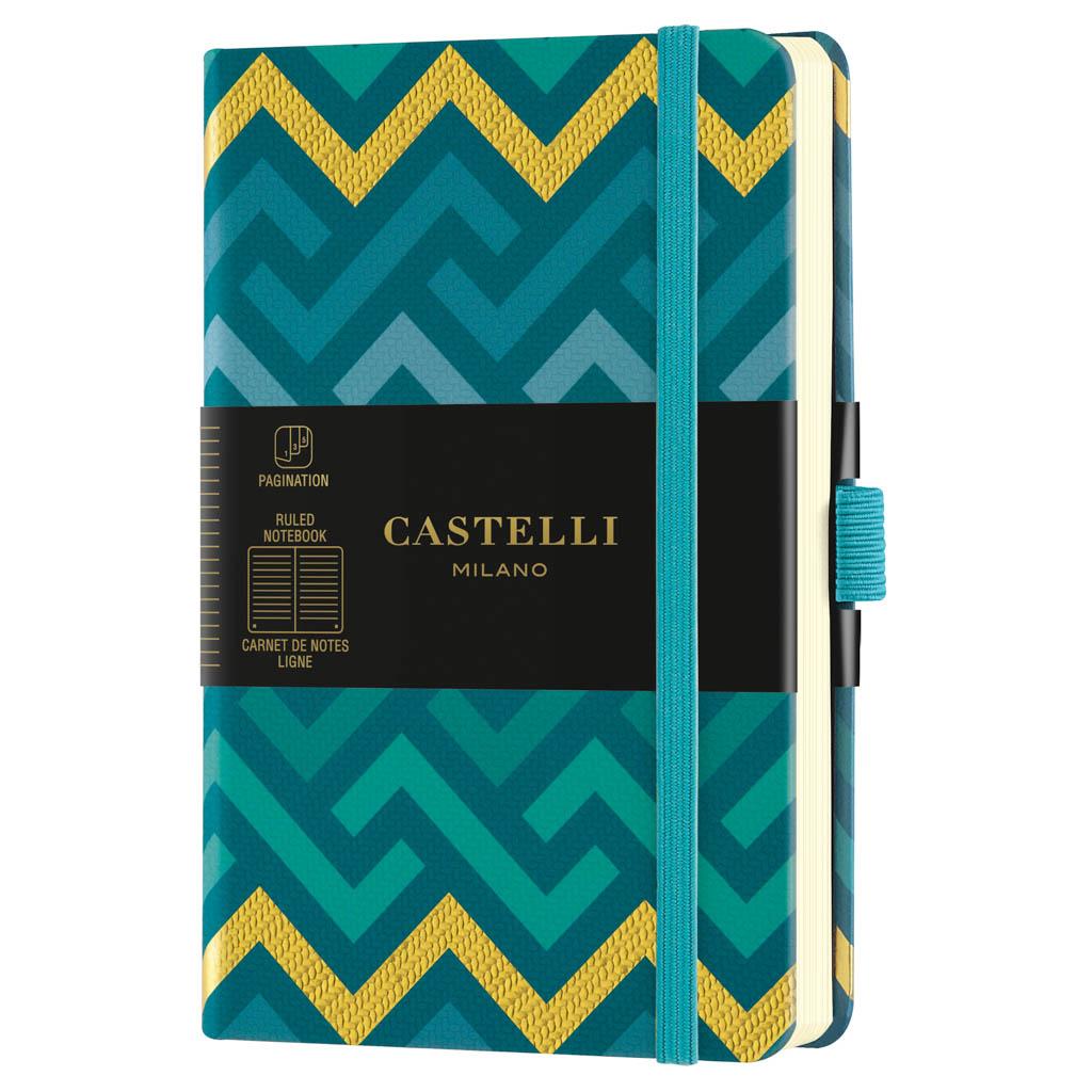 "Castelli Blok ""ORO"", POCKET, linajkový, 96 l., Labyrinths"