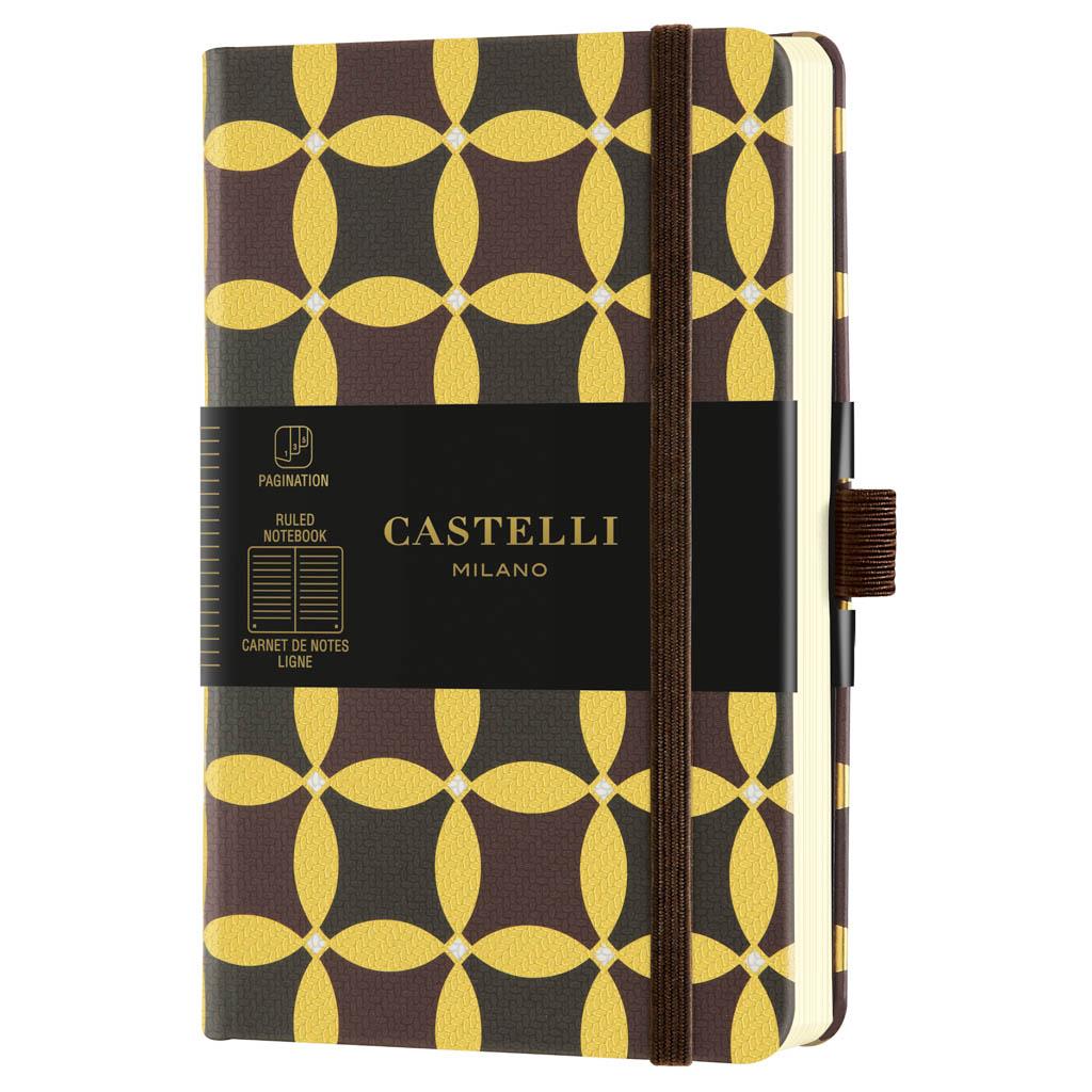 "Castelli Blok ""ORO"", POCKET, linajkový, 96 l.,Corianders"