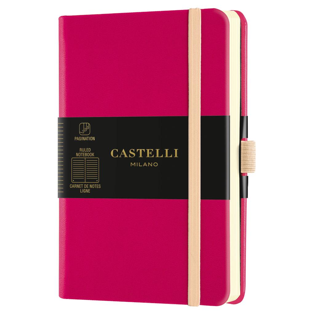 "Castelli Blok ""AQUARELA"", POCKET, linajkový, 96 l., Amaranth"