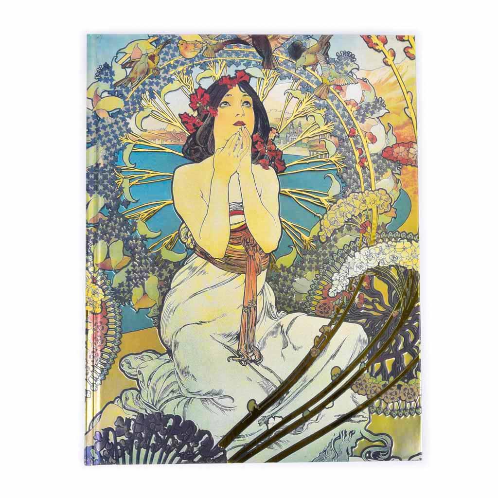 Skicár A4, 176 l. - Mucha: Žena s Monaca