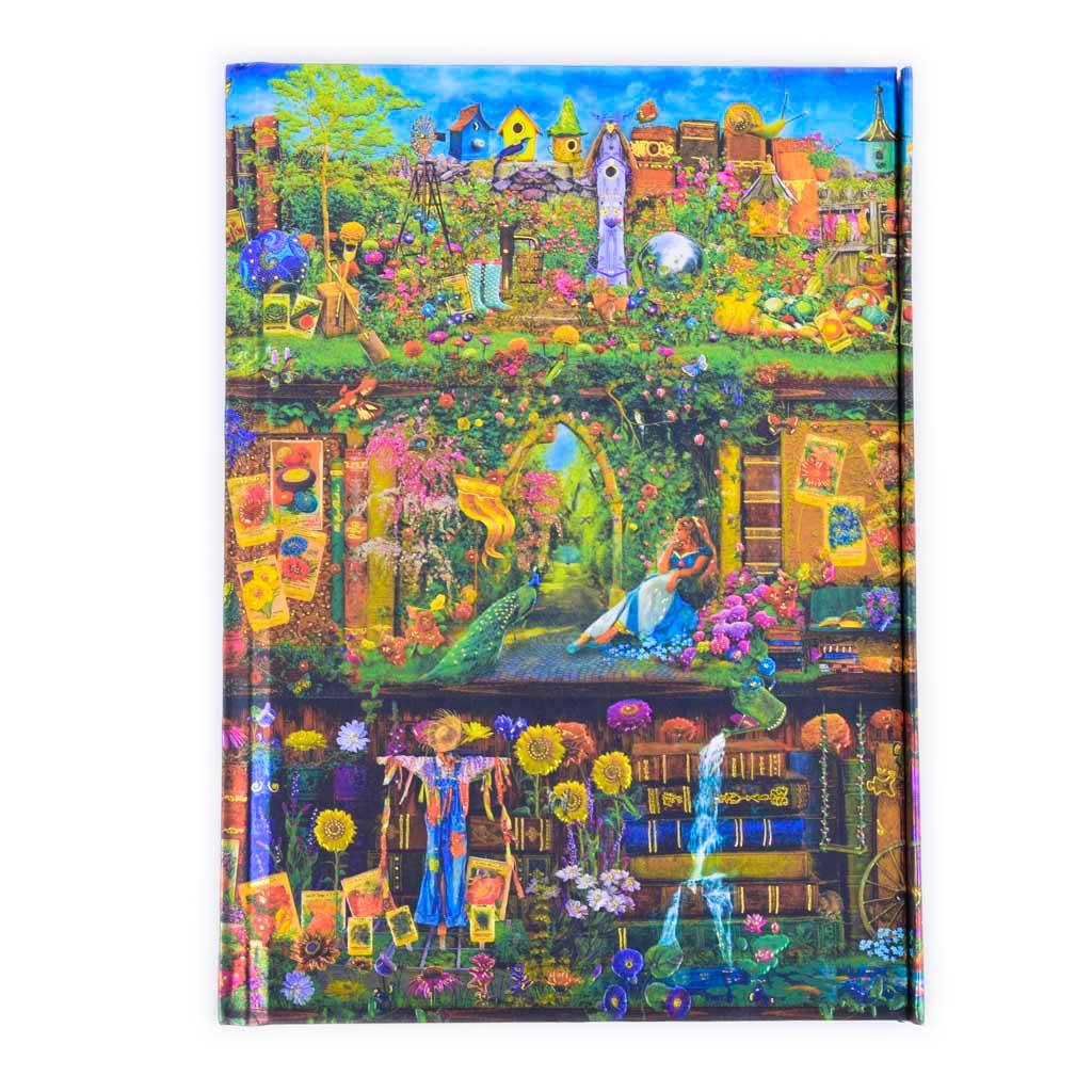 Zápisník A5, s magnetom, linajkový, 176 l. - Aimee Stewart: Záhradná knižnica