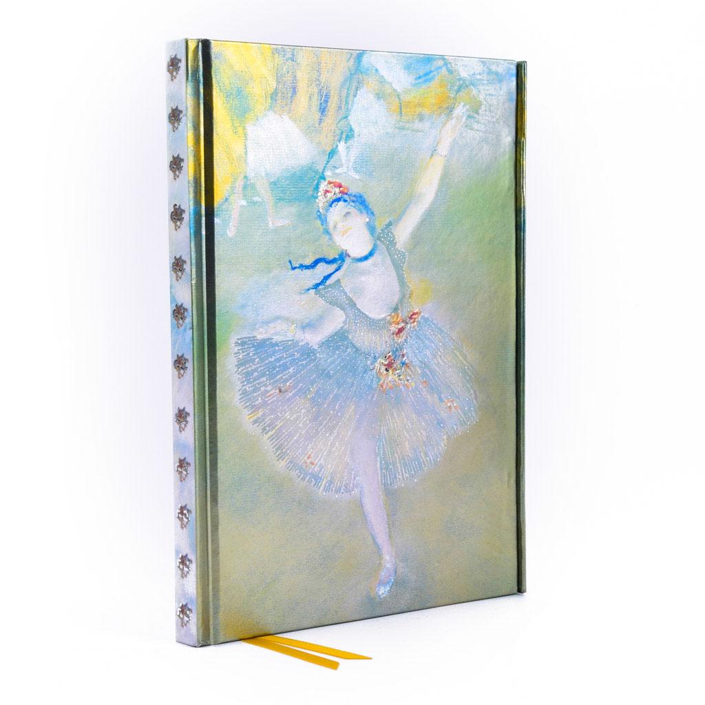 Zápisník A5, s magnetom, linajkový, 176 l. - Degas: Tanečnice